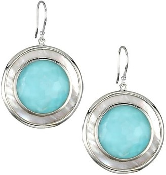 Ippolita Ondine Sterling Silver, Mother-Of-Pearl & Turquoise Drop Earrings