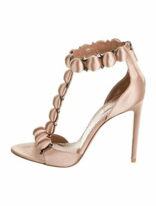 Alaia Bombe T-Strap Studded Accents T-Strap Sandals Pink