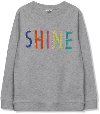 M&Co Rainbow shine slogan sweatshirt (3-12yrs)