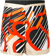 Carven patterned shorts - women - Silk/Polyester - 36