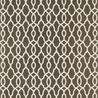 "Loloi Rugs Geometric Printed Cotton Felix Rug, Brown/Ivory, 3'6""x5'6"""