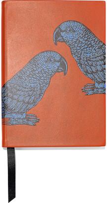 Smythson Soho Printed Leather Notebook