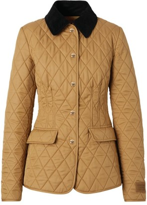 Burberry Fitted Diamond-Quilted Jacket