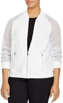 Lauren Ralph Lauren Plus Mesh Sleeve Bomber Jacket