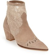Topshop Women's 'Alegra' Lace Pointy Toe Boot