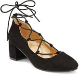 Wanted Abby Lace-Up Block-Heel Pumps