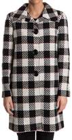 Pinko Women's White/black Cotton Coat.