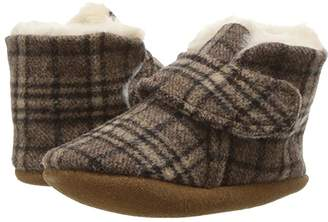 Minnetonka Kids Sawyer Bootie (Infant/Toddler) (Brown Plaid) Kids Shoes