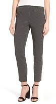 CeCe Women's Dot Jacquard Slim Pants