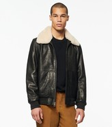 Andrew Marc CUTHBERT LEATHER SHEARLING BOMBER JACKET