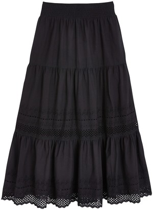 Anne Weyburn Cotton Broderie Anglaise Skirt