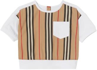 Burberry Striped Cotton Poplin & Jersey T-shirt