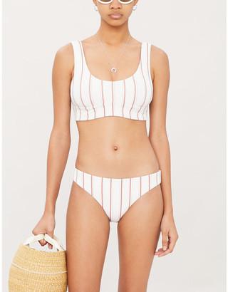 Eberjey Carol striped bikini top