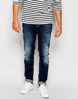 Antony Morato Dark Blue Washed Jeans In Skinny Fit - Blue