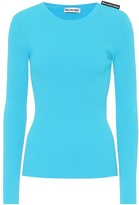 Balenciaga Technical ribbed-knit top