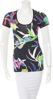 Just Cavalli Short Sleeve Patterned Top