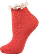Lace Trim Ankle Socks
