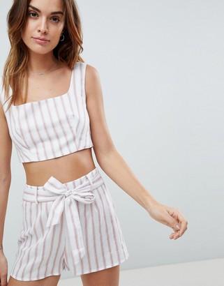 Fashion Union Stripe Crop Top