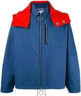 Oamc colourblock hooded jacket