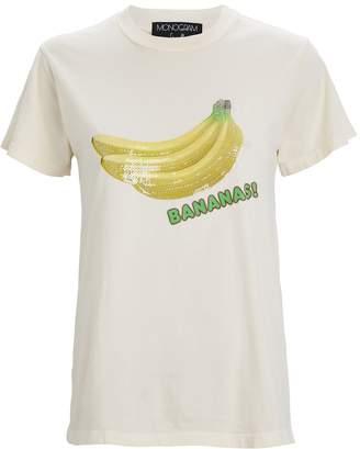 Monogram Sequined Banana T-Shirt