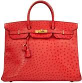 Hermes Birkin ostrich handbag