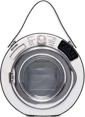 Moschino Washing Machine round leather tote bag