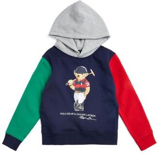 Ralph Lauren Kids Colour-Block Polo Bear Hoodie (5-7 Years)