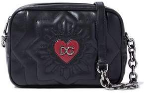 Dolce & Gabbana Logo-embellished Quilted Leather Shoulder Bag