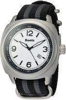 Roots Men's 'Core' Quartz Stainless Steel and Nylon Casual WatchMulti Color (Model: 1R-PR100WH7S)