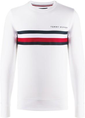 Tommy Hilfiger Striped Crew-Neck Sweatshirt
