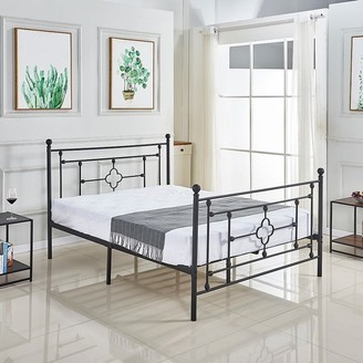 Overstock Industrial Black Iron Bed Frame