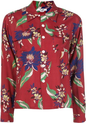 RE/DONE Floral-Print Long-Sleeved Shirt