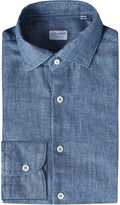 SLOWEAR Slim-fit chambray shirt