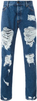 Palm Angels ripped skinny jeans - men - Cotton - 33