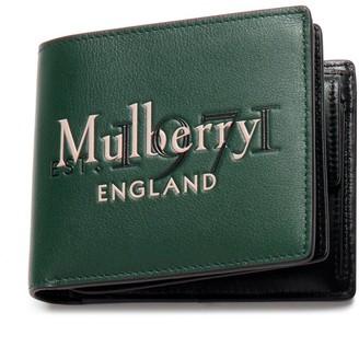 Mulberry 8 Card Coin Wallet Green Silky Calf