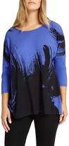 Studio 8 Romy Abstract Top, Blue/Black