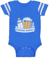 TeeStars Drinking Buddies Father's Day Gift Baby & Dad Cute Baby Jersey Bodysuit 12M