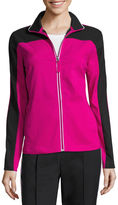 Made For Life Made for Life Colorblock Curved-Yoke Contrast-Trim Jacket