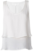 Veronica Beard Raw Edge Double Layer Tank