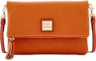 Dooney & Bourke Foldover Zip Small Pebble Leather Crossbody