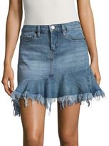 Blank NYC BLANKNYC Distressed Hem Mid-Rise Skirt