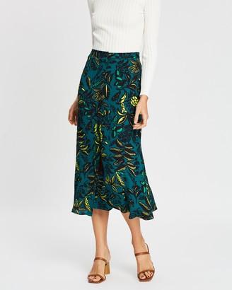 Whistles Assorted Leaves Print Skirt