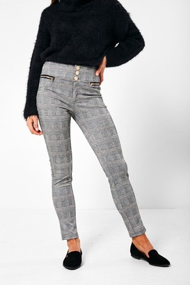 iClothing Harlow High Waist Jeggings in Check Print