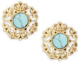 Nanette Lepore Stone-Accented Floral Stud Earrings