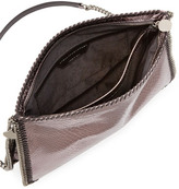Stella McCartney Falabella Medium Metallic Crossbody Bag, Gray