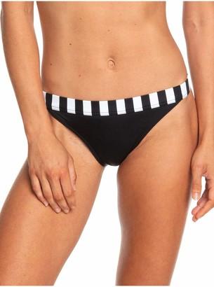 Roxy Women's Pop Surf Moderate Bikini Swimsuit Bottom