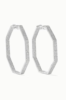 Ofira Geo 18-karat White Gold Diamond Earrings