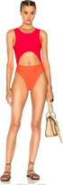 Baja East Cut Out Swimsuit