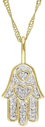 Sonatina 14K Yellow Gold Diamond Chain Pendant Necklace