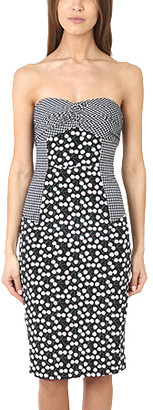 Charlotte Ronson Cherry Dot Strapless Dress